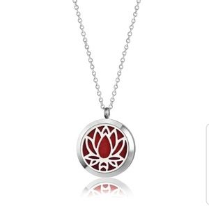 Anavia Jewelry - Anavia aromatherapy necklace lotus flower